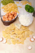 Making home made ravioli — Stock Photo