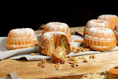 Rolls with walnuts — Stock Photo