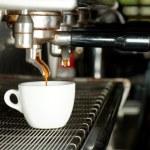 Espresso machine brewing a coffee — Stock Photo #65702607