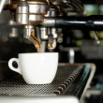 Espresso machine brewing a coffee — Stock Photo #65702677