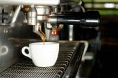 Espresso machine brewing a coffee — Stock Photo
