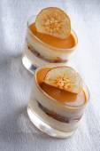 Italian caramel dessert — Stock Photo