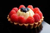 Fresh french fruit tart — Stock Photo