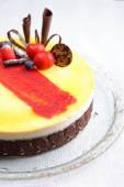 La ganache chocolate mousse cake — Stock Photo