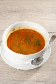 Bowl of minestrone soup — Stock Photo