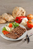 Cevapcici, a small skinless sausages — Stock Photo