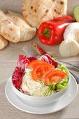 Bowl of mixed salad — Stock Photo