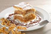Gibanica - traditional sloven cake pie — Stock Photo