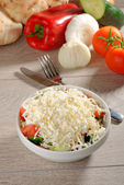 Shopska salad also known as Bulgarian — Stock Photo