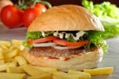 Big   gourmet burger — Stock Photo