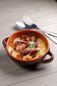 Spanish tapas style octopus — Stock Photo