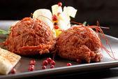 Tasty beef tartars — Stock Photo