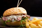 Gourmet burger with roast beef — Stock Photo