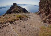 Path to the sea in Imerovigli Santorini — Stock Photo