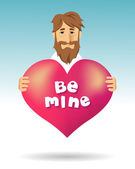 "Marriage proposal: ""Be Mine"" — Stock Vector"