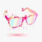 Pink glasses — Stock Vector