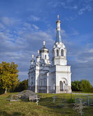 Church of the Holy Martyr Tsarina Alexandra in Nizino.Petergof. — Foto Stock
