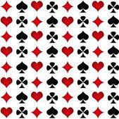 Spades, clubs, hearts, diamonds — Stock Vector