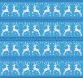Knitting winter deer — Stock Vector