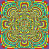 Indische hypnotische psychedelische Regenbogen-mandala — Stockvektor