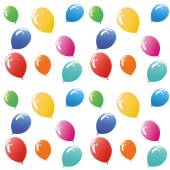 Colorful balloons pattern on white background — Vector de stock