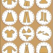Clothing store, icons and shortcut — Stock Vector #62788785