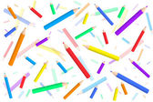 Pattern with colored pencils — Stock Vector