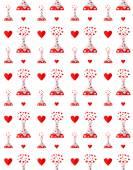 Drug of love pattern — Stock Vector