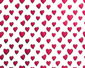 Seamless Background of Red Hearts, Vector — Stock Vector