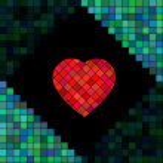 Heart mosaic. Vector illustration. — Stock Vector #72067681