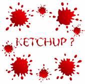 Blots and spots ketchup or blood — Stock Vector