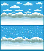 Mountain winter — Stock Vector