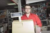 Hardware store employee — Stock Photo