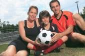 Kid di calcio — Foto Stock