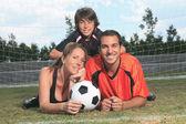 Chico fútbol — Foto de Stock