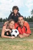Voetbal kid — Stockfoto