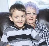Portrait of smiling multigeneration family spending leisure time — Stockfoto