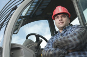 A construction  men working outside — Stock Photo