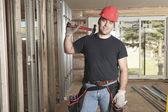 A construction  men working outside — Стоковое фото