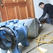 A Ventilation cleaner working on a air system. — Stock Photo #65232093