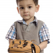 A little boy with a baseball gears — Stock Photo #65234463
