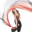 A belly dancer over a white background — Stock Photo #65378835