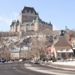 Chateau Frontenac in winter, Quebec City, Quebec, Canada — Stock Photo #65384981