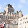 Chateau Frontenac in winter, Quebec City, Quebec, Canada — Stock Photo #65385033