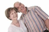 Senior Couple Isolated on a white Background — Stock Photo