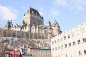 Chateau Frontenac in winter, Quebec City, Quebec, Canada — Stockfoto