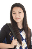 Young Asian student isolated on white background. — Stock Photo