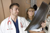 A Patient with doctor radiologist in a hospital — Stock Photo