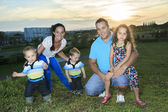 A family on the sunset of life — Stock Photo