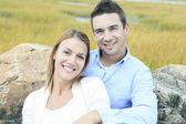 Young happy couple on summer season — Stock fotografie